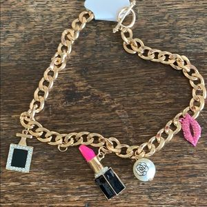 Goldtone charm necklace